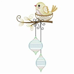 Christmas Bird embroidery design
