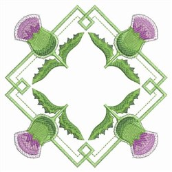 Thistle Diamond embroidery design