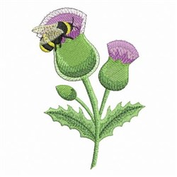 Bee OnThistle embroidery design