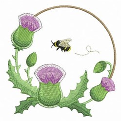 Thistle Bee embroidery design