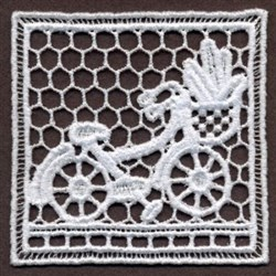 FSL Bicycle Doily embroidery design