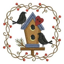 Country Crows embroidery design