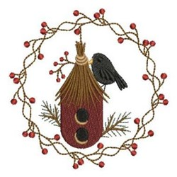 Country Crow embroidery design