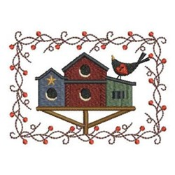 Country Birdhouses embroidery design