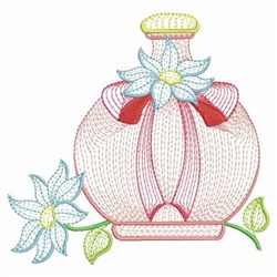 Floral Perfume embroidery design
