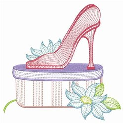 Fashion High Heel embroidery design