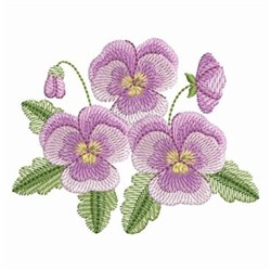 Pansy Beauty embroidery design
