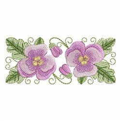 Pansy Beauty Border embroidery design