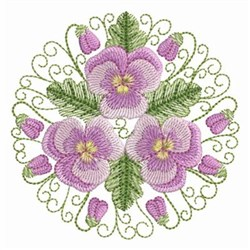 Pansy Beauty Circle embroidery design