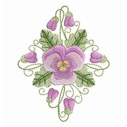 Pansy Beauty Diamond embroidery design