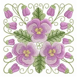 Pansy Beauty Square embroidery design