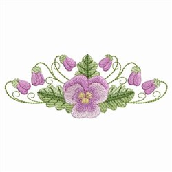 Pansy Flowers embroidery design