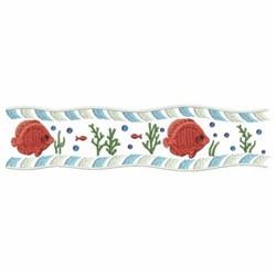 Ocean Fish Border embroidery design