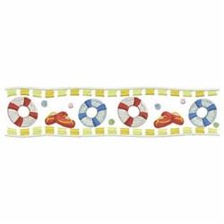 Swim Ring Border embroidery design