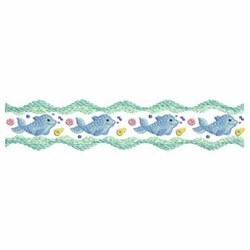 Dolphin Border embroidery design