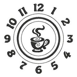 Tea Time Clock Face embroidery design