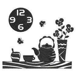 Tea Time Scene embroidery design