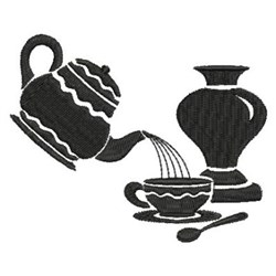 Pouring Tea embroidery design