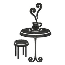 Tea Time Table embroidery design