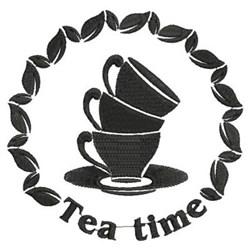 Tea Time Circle embroidery design