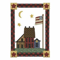 Patriotic Houses embroidery design
