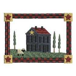 Country House Scene embroidery design