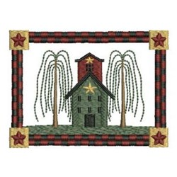 Houses & Trees embroidery design