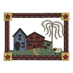 Country Houses embroidery design