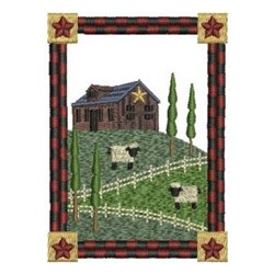 Country Farm House embroidery design