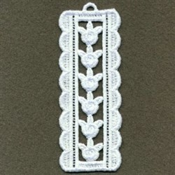 FSL Rose Bookmark embroidery design