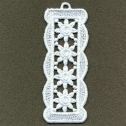 FSL Floral Bookmark embroidery design