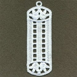 FSL Flower Bookmark embroidery design