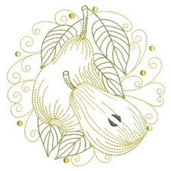 Pear Circle embroidery design
