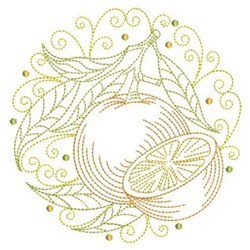 Oranges Circle embroidery design