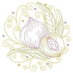 Peach CIrcle embroidery design