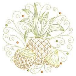 Pineapple Circle embroidery design