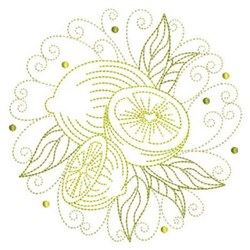 Lemon Circle embroidery design