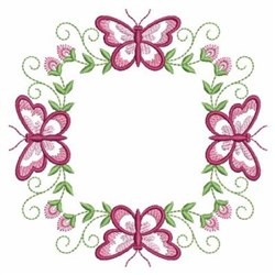 Butterfly Block embroidery design