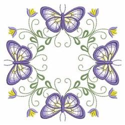 Purple Butterflies embroidery design