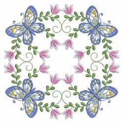 Butterfly Circle embroidery design