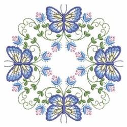 Blue Butterflies embroidery design
