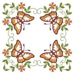 Orange Butterflies embroidery design