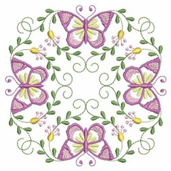 Pink Butterflies embroidery design
