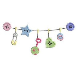 Baby Buttons embroidery design