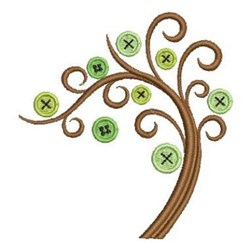 Tree Of Buttons embroidery design