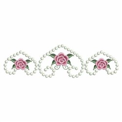 Hearts Roses embroidery design