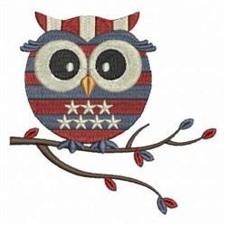 Patriotic Owls embroidery design