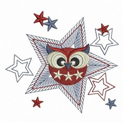 Star Owl embroidery design
