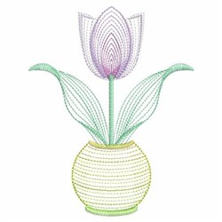Potted Tulip embroidery design