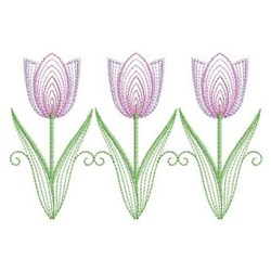 Row Of Tulips embroidery design